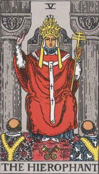Cosa dicono i Tarocchi in situazioni d amore, Il Papa